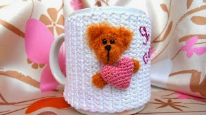 Patrón de cubre taza crochet