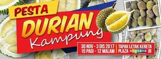 PESTA DURIAN KAMPUNG MALAYSIA DI PLAZA ANGSANA