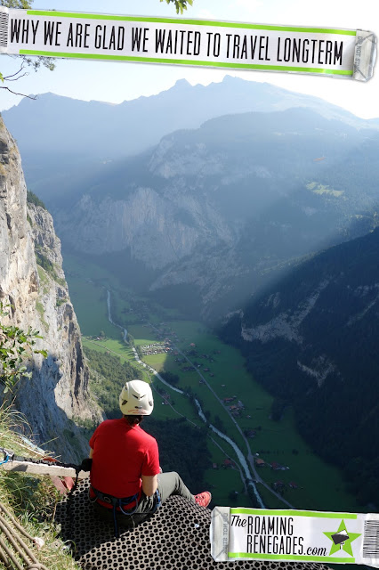 inspiration, backpacking, travelling, traveling, long term, how to travel, inspiration, motivation, Why we are glad we waited to travel longterm, interlaken, via ferrata