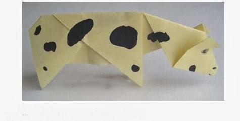 Origami İnek Yapımı