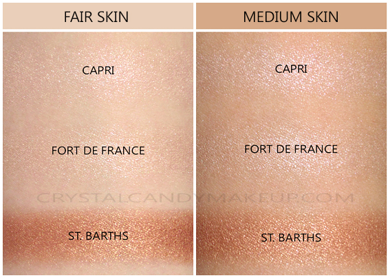 NARS Highlighting Powders Swatches Capri Fort France St Barths