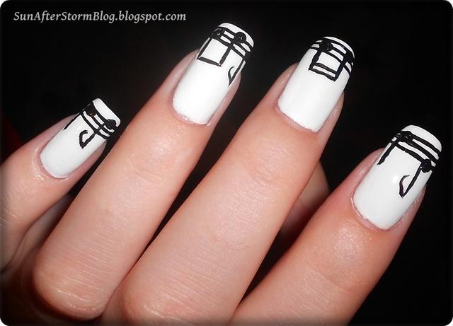 19 Black White Nails Colaborare 31 Teme De Manichiuri Note