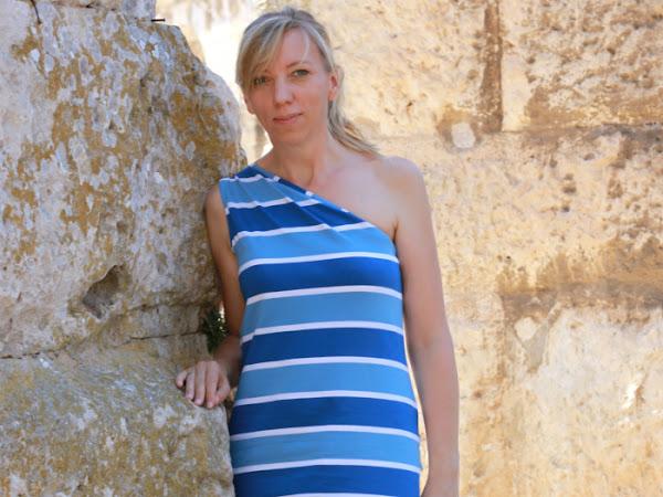 Blockstreifen Kleid - ein letztes Mal Rums