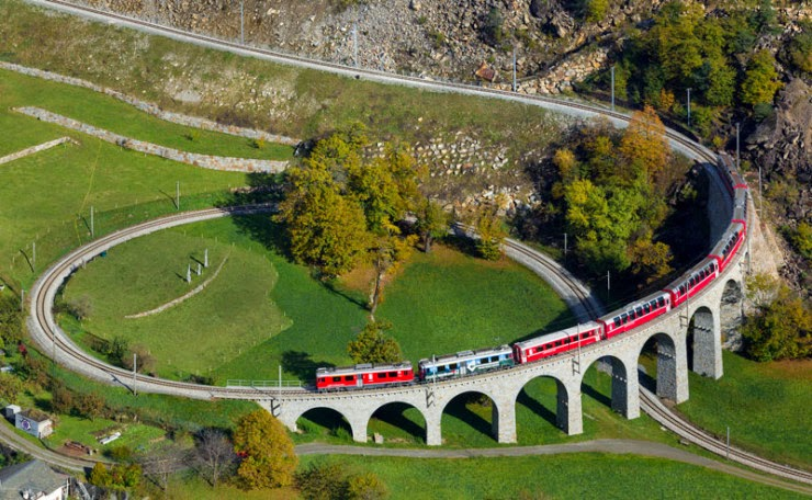 1. Rhaetian Railway, Switzerland - Top 10 Scenic Rides