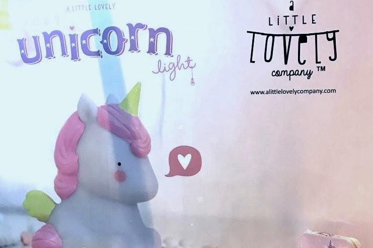 Lámpara quitamiedos de unicornio de A Little Lovely Company