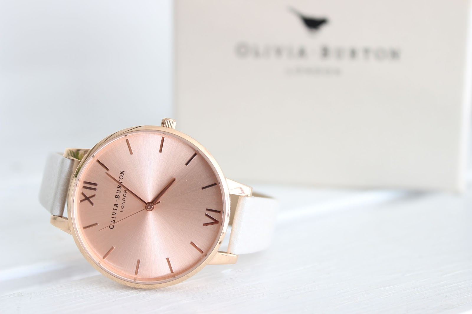 Olivia Burton Big Dial Mink & Rose Gold Watch