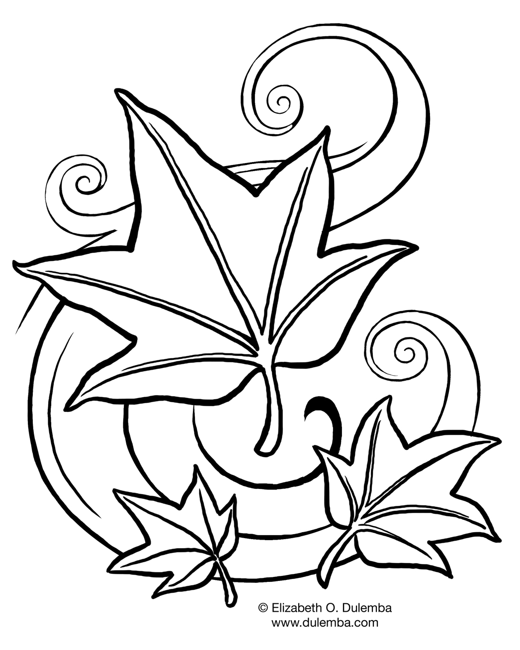 Free Fall Coloring Pages for Kids >> Disney Coloring Pages