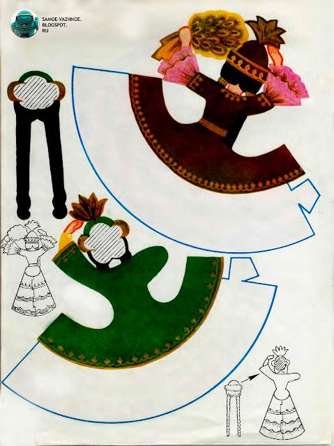 Советская игра-самоделка 15 сестёр Пятнадцать сестер костюмы республик СССР советских республик.