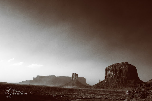 Monument Valley Sandstorm infrared