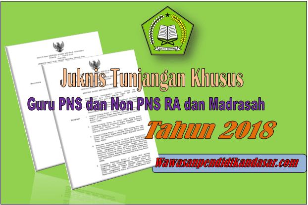Cara Mendapatkan Tunjangan Khusus Guru PNS dan Non PNS RA dan Madrasah 2018