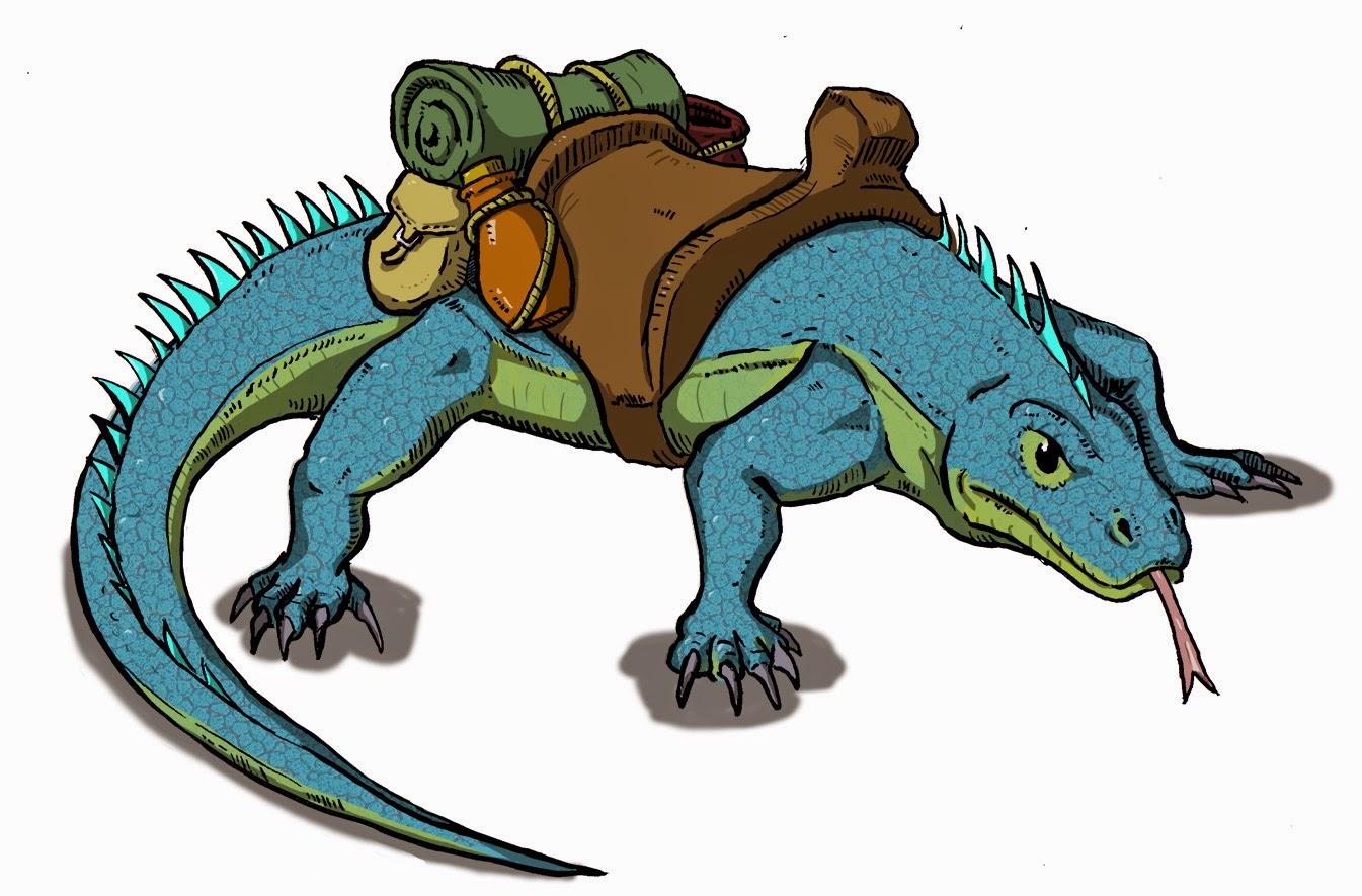 D D Basic Monsters Giant Lizard