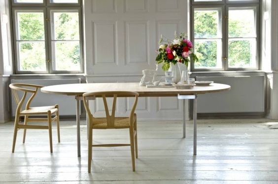 Slow living dining area with Danish wishbone chairs - found on Hello Lovely Studio
