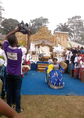 A physically challenged lady, Edidiong Edet and her husband have tied the knot at Ituk Mbang, Uruan Local Government Area of Akwa Ibom State.