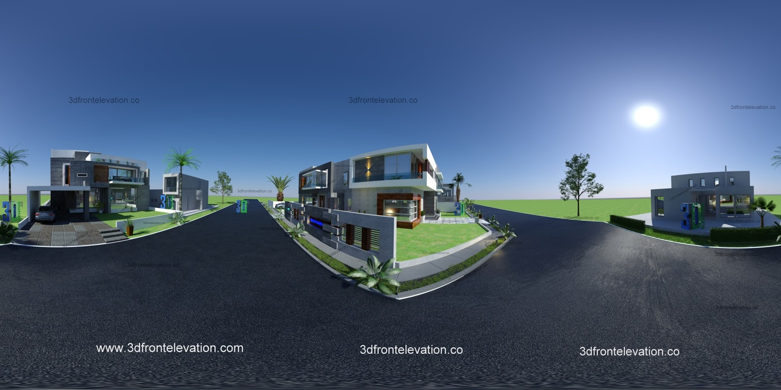 3d Front House Plan Front Design In