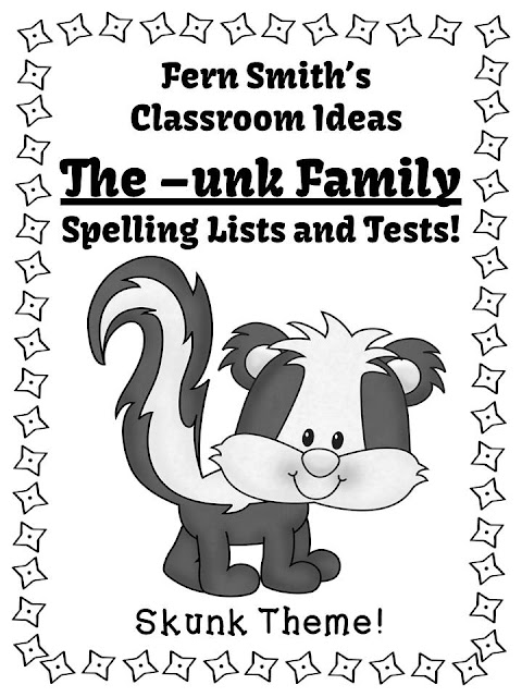 Fern's Freebie Friday ~ FREE Spelling The -unk Family Word Work Lists & Tests available at Fern Smith's classroom Ideas Teacherspayteacher store. Come visit Fern Smith's Classroom Ideas every Friday for two new freebies, one from Fern and one from Fern's friend! Be sure to come back each week to see what's new! Free downloads for elementary and homeschooling teachers for kindergarten, first grade, second grade, third grade, fourth grade, fifth grade and sixth grade. These freebies will also be linked up at Teaching Blog Addict, a great place for more Friday Freebies!!