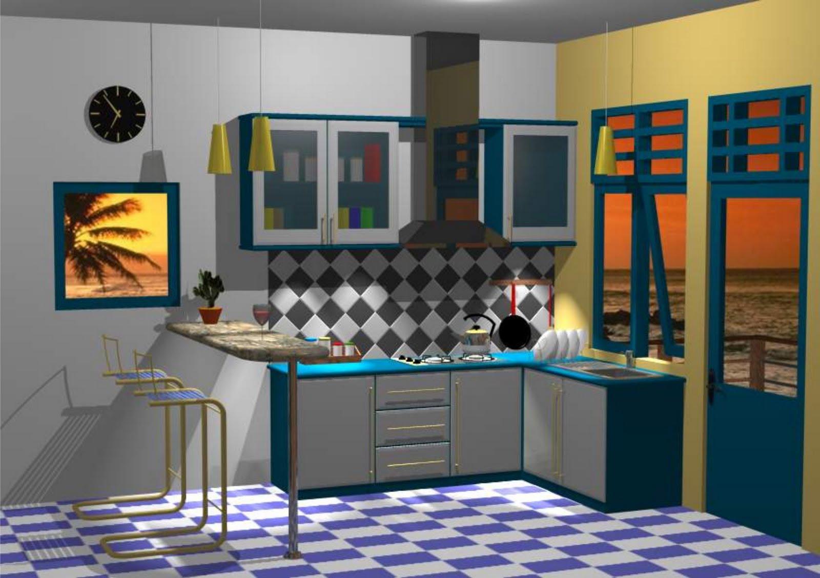 Arsitekemarinsore Desain Interior Dapur Dengan Meja Bar