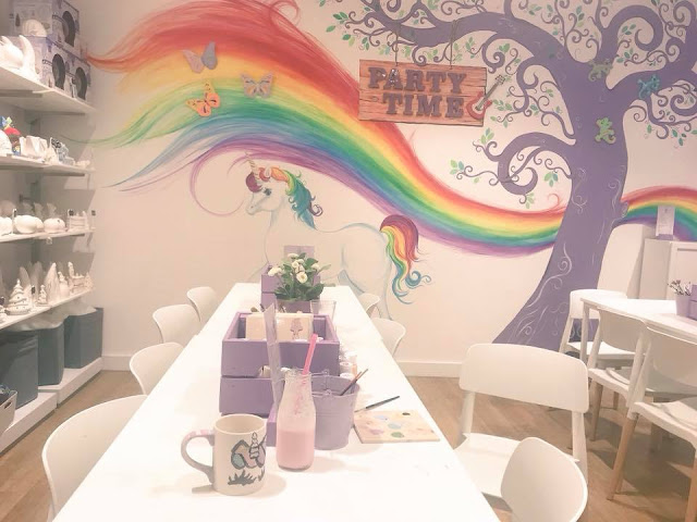 party room at Emily's Paint a Pot in Next, Manchester Arndale