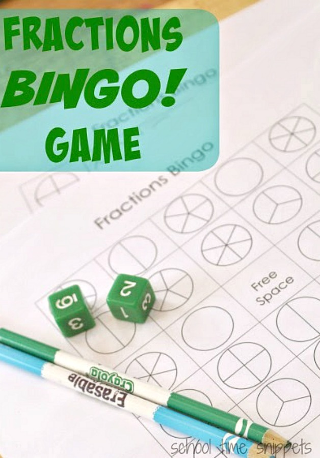 Bingo Fractions Math Game