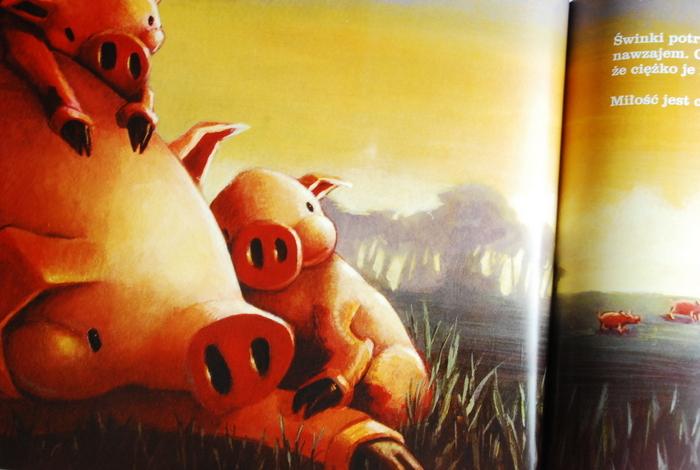 Beztroskie, szczęśliwe świnki