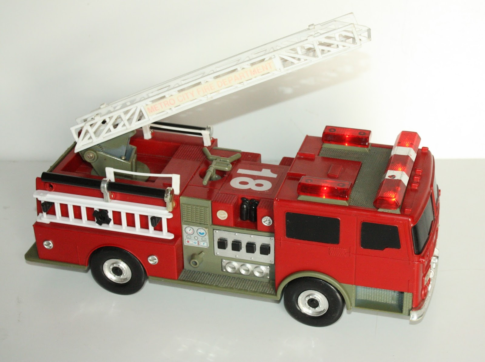 Vintage toy fire trucks apologise, but