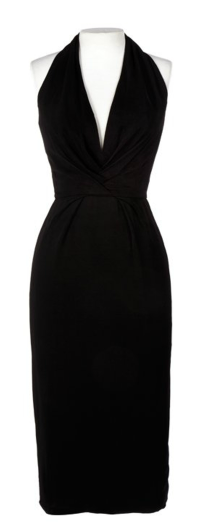 Black Ceil Chapman Halter Top Sheath Style Dress worn by Marilyn Monroe