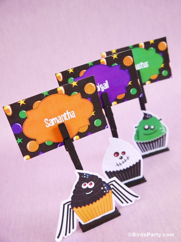 DIY Marque-Places d'Halloween avec des Printables | BirdsParty.fr