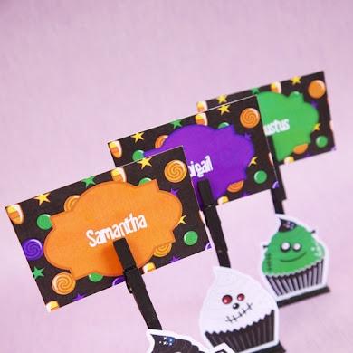 DIY Marque-Places d'Halloween avec des Printables