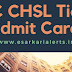 SSC CHSL Tier 2 Admit Card 2017, SSC 10+2 LDC DEO Exam Hall Ticket