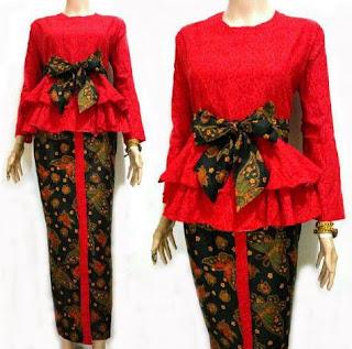 Setelan Baju Batik Emboss Kreasi Terbaru