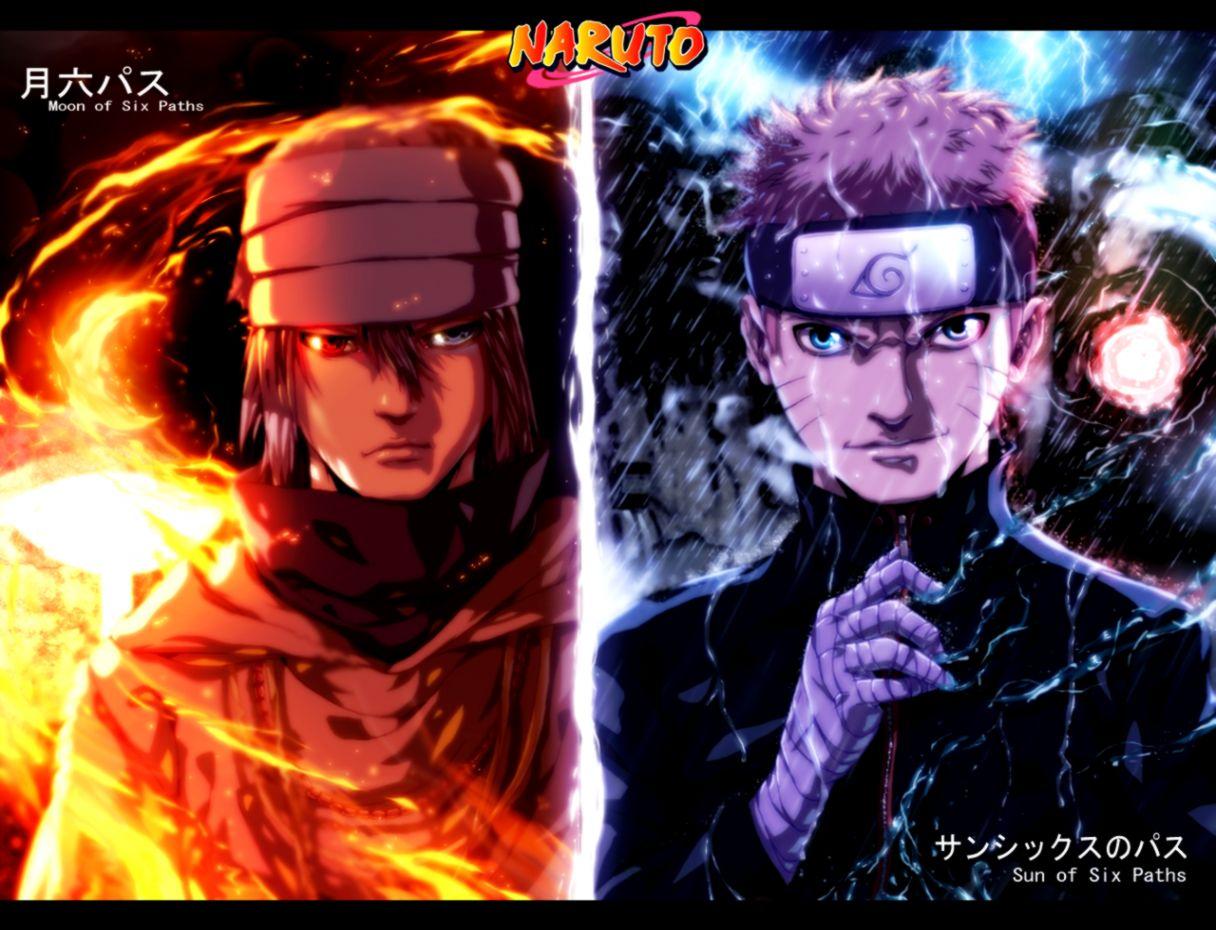 Sasuke Moon Of Six Paths and Naruto Sun Of Six Paths Wallpaper