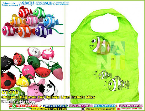 Shopping Bag Atau Tas Belanja Lipat Include Mika