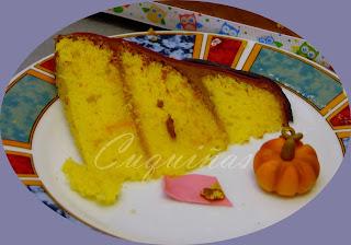 Corte tarta de calabaza