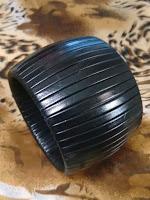 pulseira couro preta