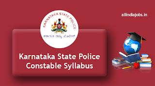 Karnataka State Police Constable Syllabus