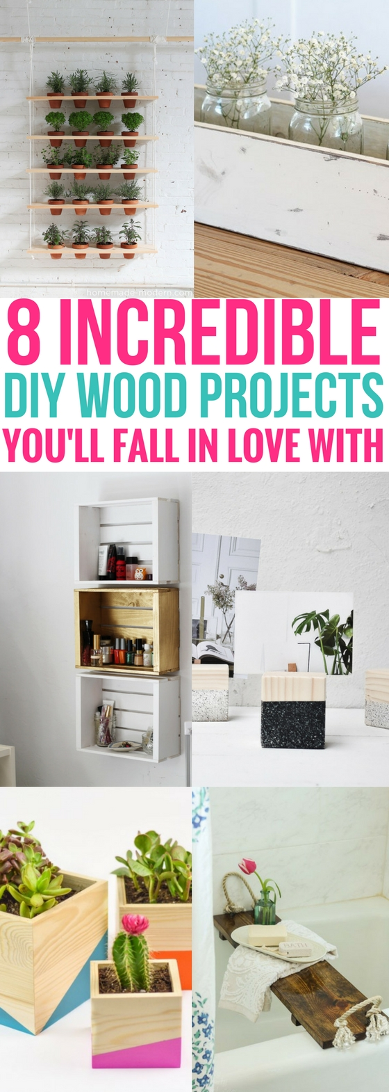 8 DIY Wood Projects You\'ll Fall In Love With - Craftsonfire