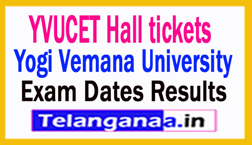 YVUCET 2018 Hall Tickets Exam Dates Results YVUPGCET 2018