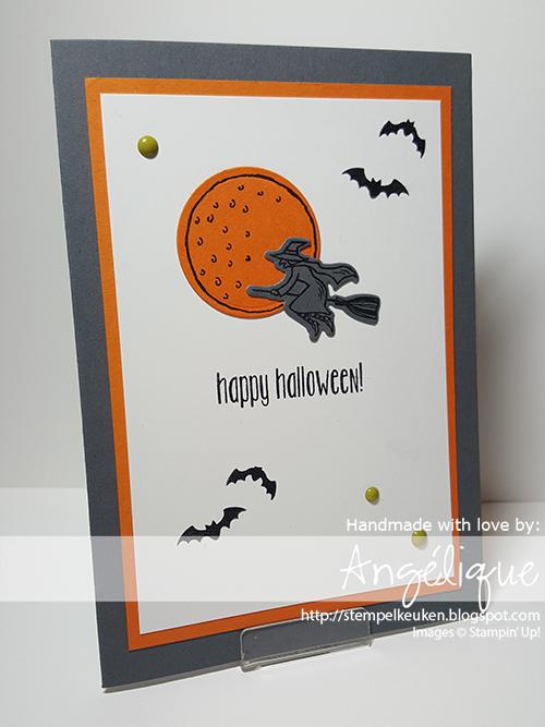 http://stempelkeuken.blogspot.com #SpookyFun #HalloweenScenes #Halloween #BasicGray #PumpkinPie #EnamelDots #Stempelkeuken