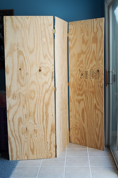 Oh, brain: plywood room divider