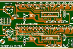 Vu display 10 led stereo untuk power amplifier