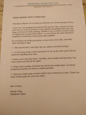 राजुमार राव और श्रद्धा के नाम चिट्ठी