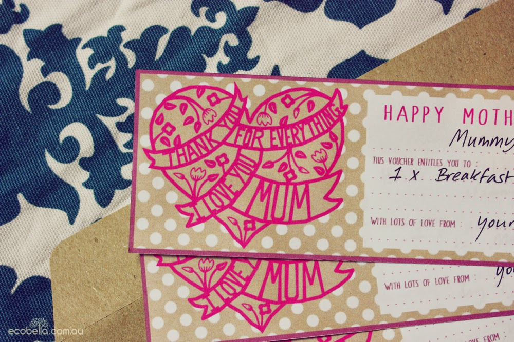Free Mother's Day Voucher Printable detail