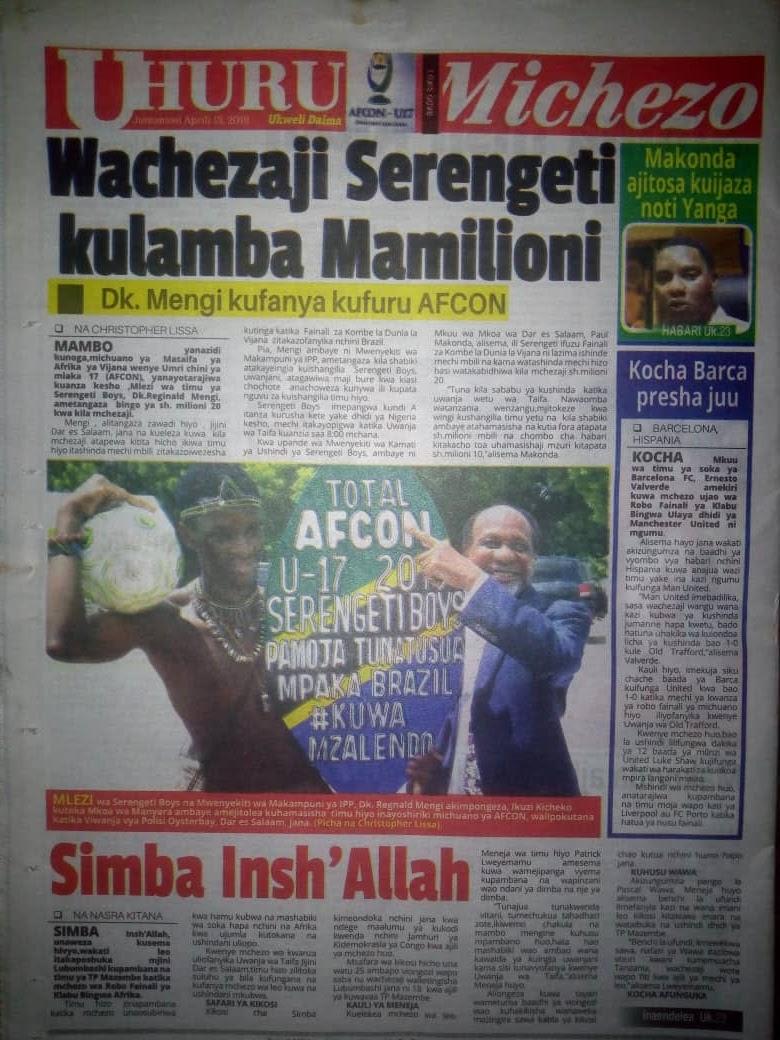 THIS IS ON THE LOCAL GOOD NEWS APRIL 13,2019 – Habari Mpya