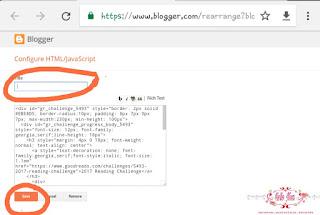 Cara memasang widget goodreads di blogspot