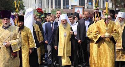 У Києві відбулася хресна хода УПЦ МП на честь річниці хрещення Русі