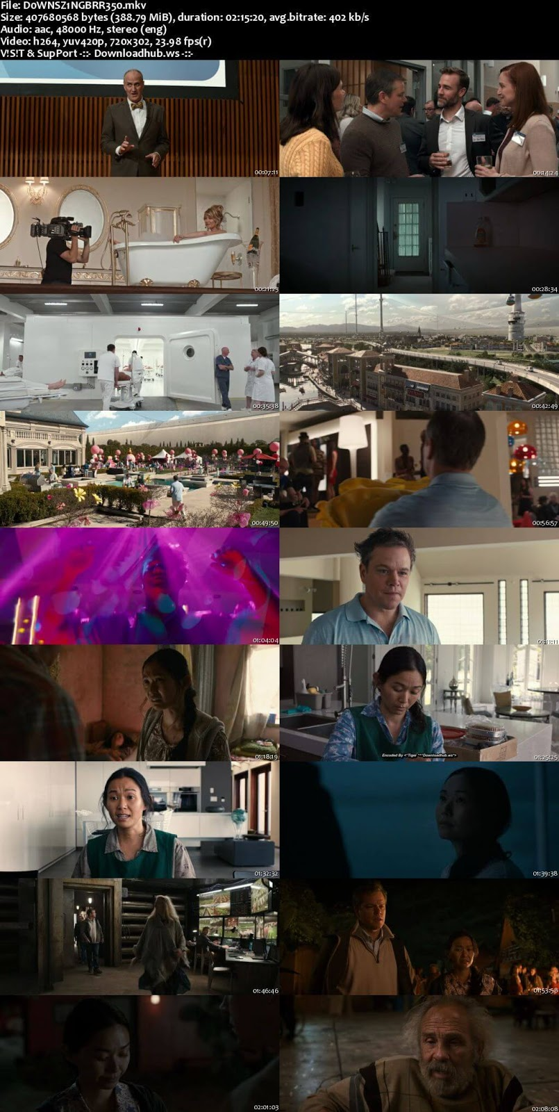 Downsizing 2017 English 480p BRRip ESubs