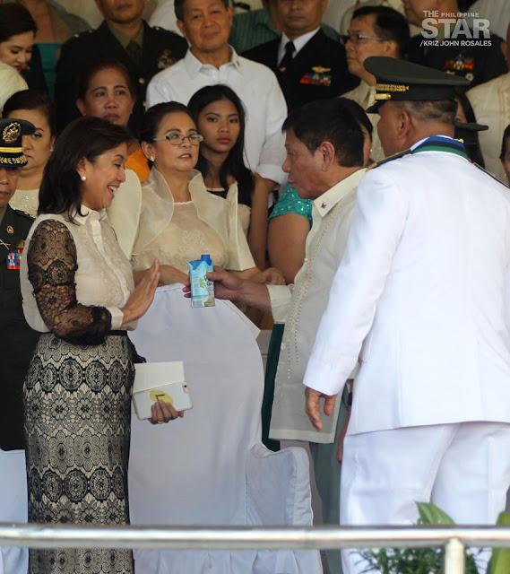 President Rodrigo Duterte and Vice President Leni Robredo's First Public Appearance Went Well