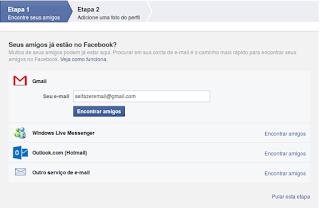 Como faço pra criar um Facebook