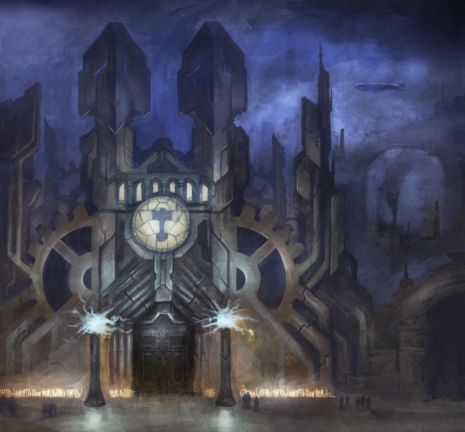 steampunk city by fyreuk