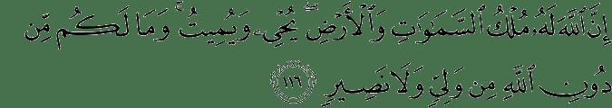 Surat At Taubah Ayat 116