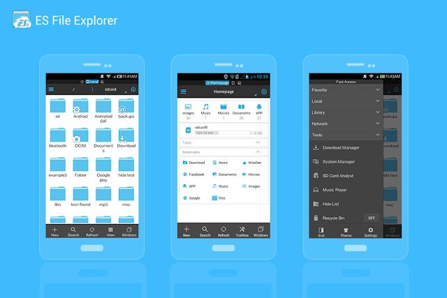 افضل تطبيق ادارة الملفات على هواتف الاندرويد Es File Explorer